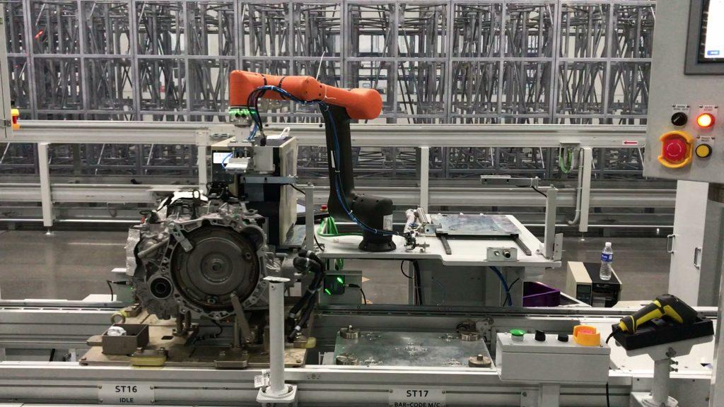 robot współpracujący - etykietowanie