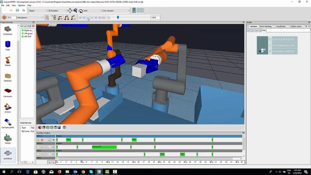 AUTOMAPPPS oprogramowanie do symulacji i testowania procesu z automatycznym programowaniem robota HCR.